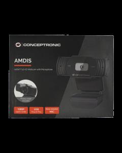 Conceptronic AMDIS Webcam 1080p Full-HD mit Mikrofon